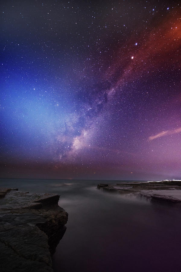Twins Color Milky Way Photograph by Alex Teng