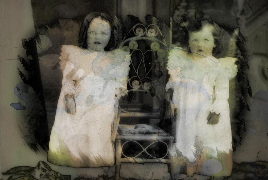 Album Photograph - Twins Julia And Jim Cannon Circa 1903 by Ellen Cannon