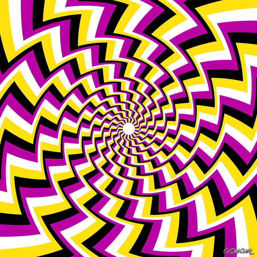 Twisting Spiral Mixed Media