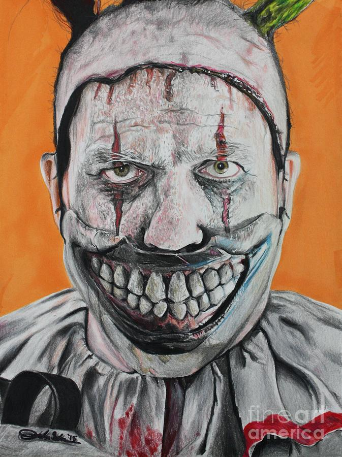 American Horror Story Drawing - Twisty by Joshua Navarra