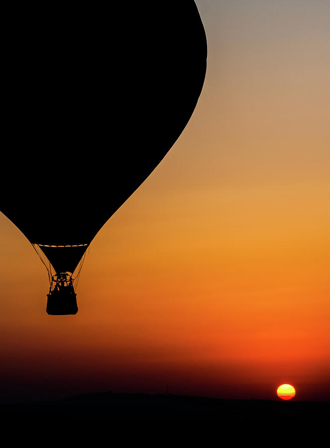 Dawn Photograph - Two Balloons by Tomer Eliash