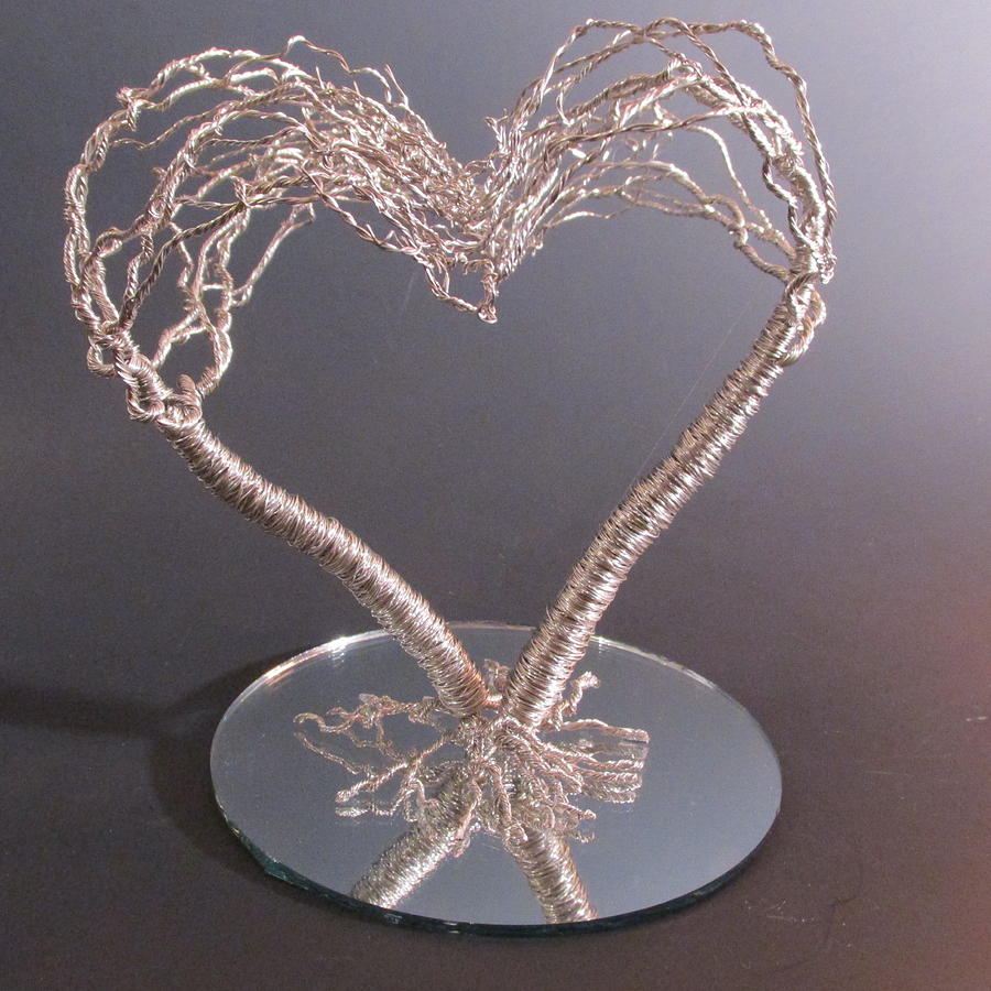 Two Become One Flesh Wire Tree Wedding Cake Topper Sculpture ...