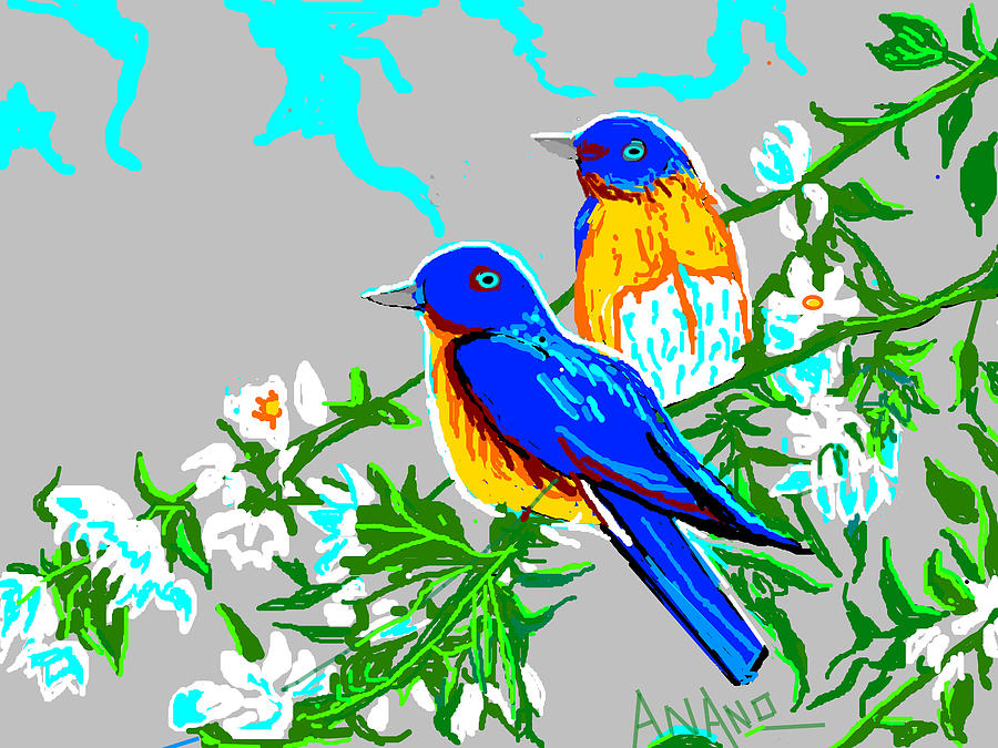 Two Birds Digital Art - Two Birds by Anand Swaroop Manchiraju