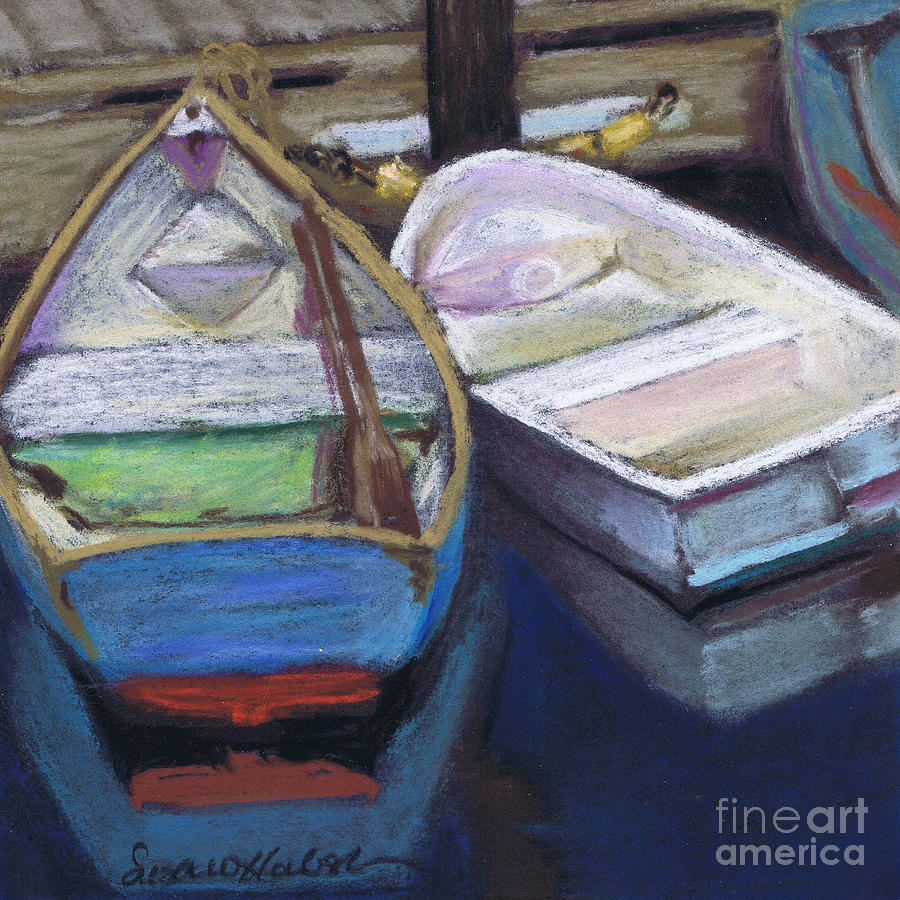 Boats Painting - Two Boats Bernard by Susan Herbst