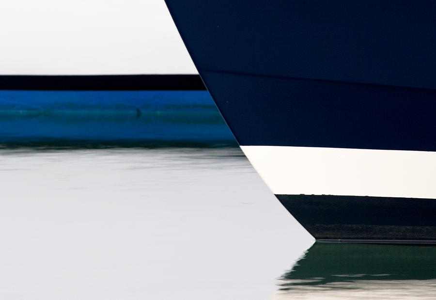 Boats Photograph - Two Boats Moored by CJ Middendorf