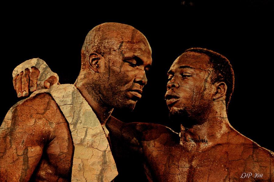 Boxer Painting Digital Art - Two Boxers by Lynda Payton