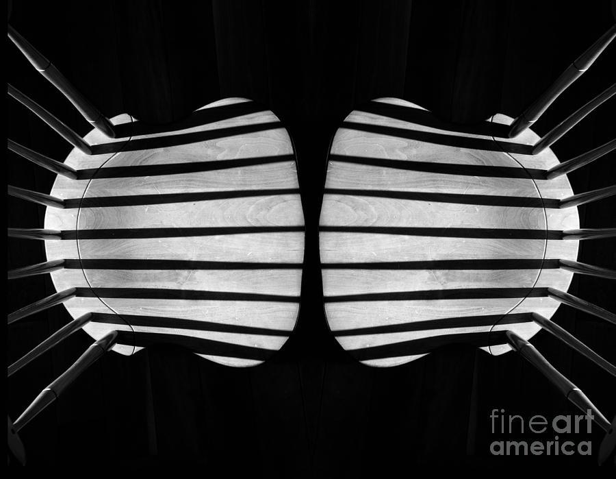 Monochrome Photograph - Two Chairs by Joseph Duba