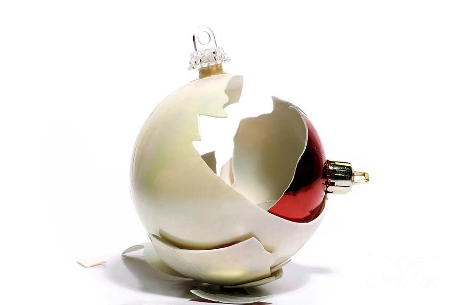 Destruction Photograph - Two Christmas Ball by Bernard Jaubert