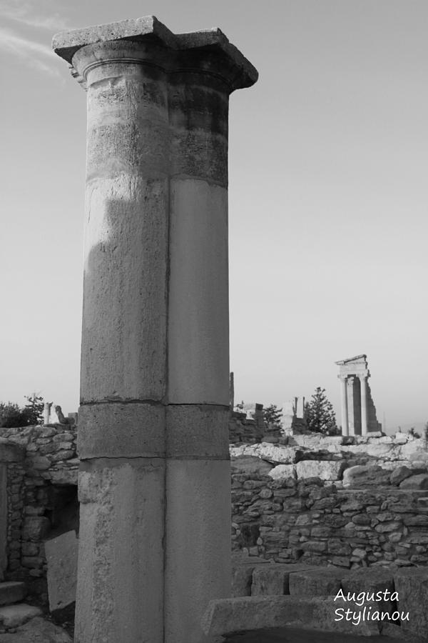Artist Photograph - Two Columns At Apollo Sanctuary by Augusta Stylianou