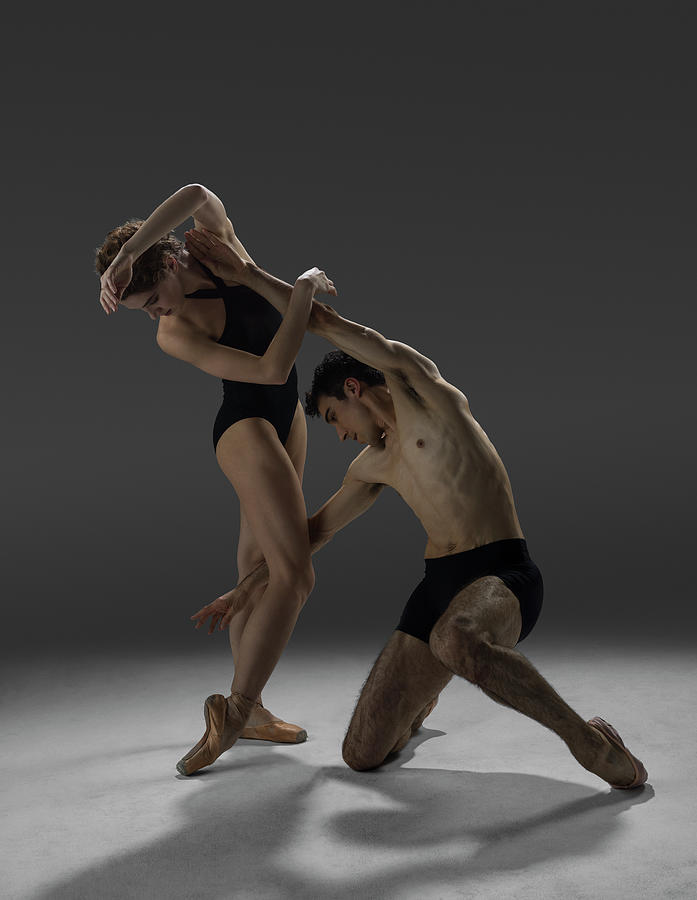 Two Dancers Performing Contemporary Photograph by Nisian Hughes