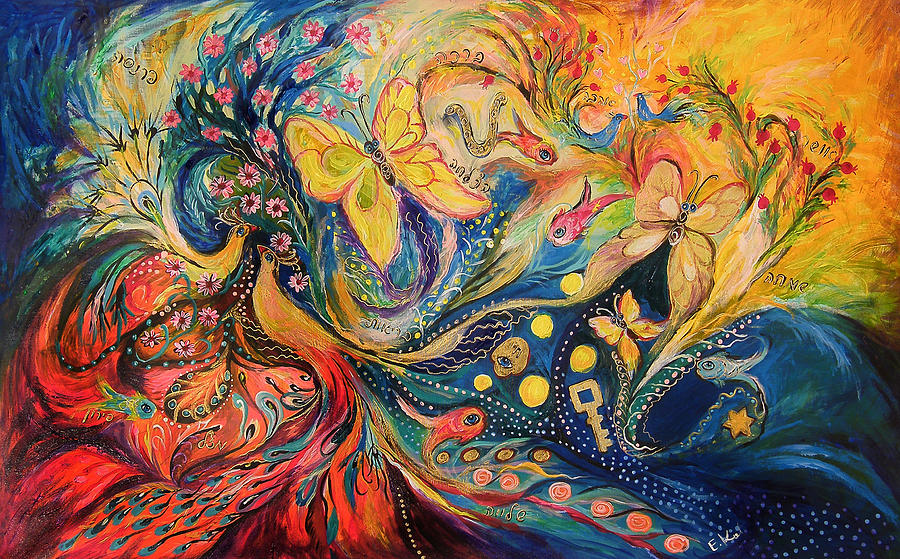 Five Elements Art : Two elements painting by elena kotliarker