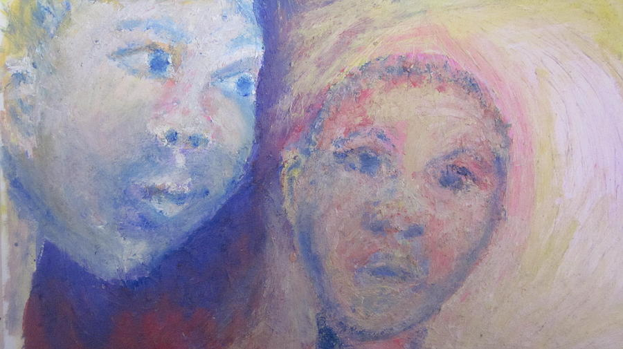 Portrait Painting - Two Faces by Cherie Sexsmith