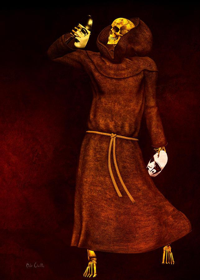 Dead Digital Art - Two Faces Of Death by Bob Orsillo