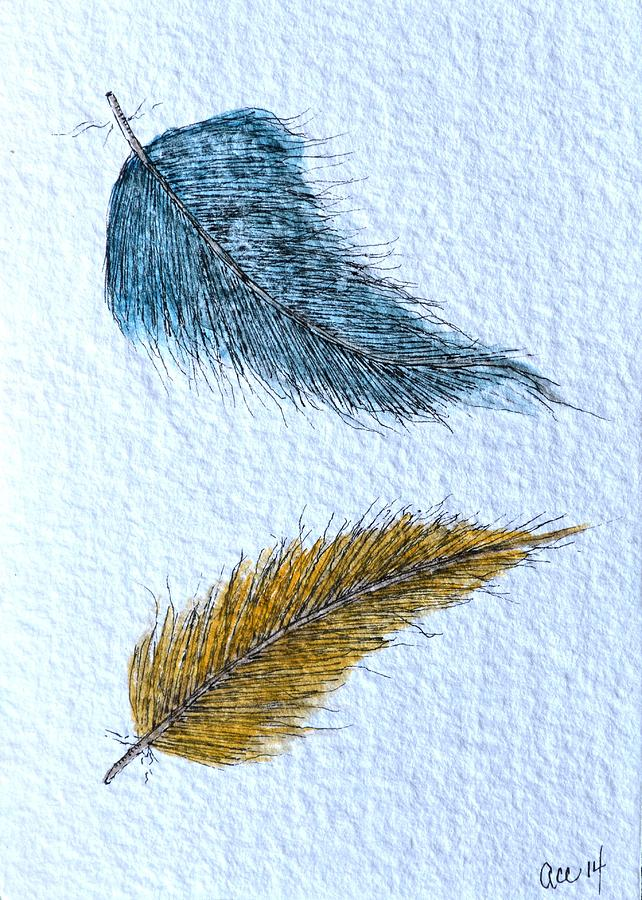 Two Feathers by Anne Clark