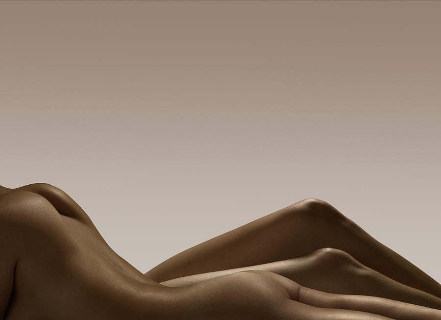 Two Female Naked Bodies Photograph by Jonathan Knowles