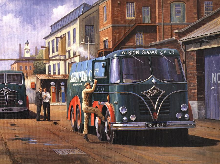 Foden Painting - Two Fodens by Mike  Jeffries