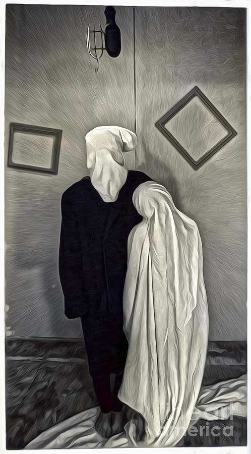 Surreal Image Painting - Two Ghosts by Gregory Dyer
