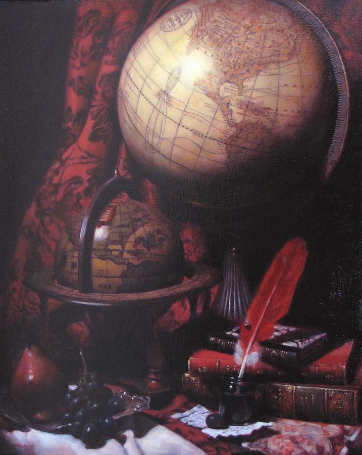 Still Life Painting - Two Globes by Takayuki Harada
