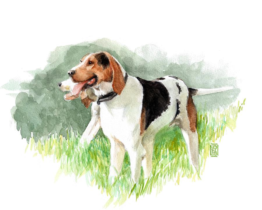 Foxhunt Painting - Two Hounds by Debra Jones
