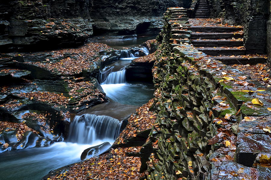 Steps Photograph - Two Kinds Of Steps by Frozen in Time Fine Art Photography