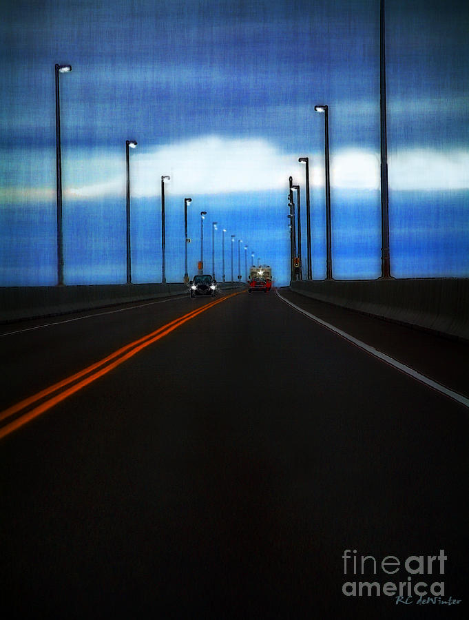 Cars Painting - Two-lane Blacktop by RC DeWinter