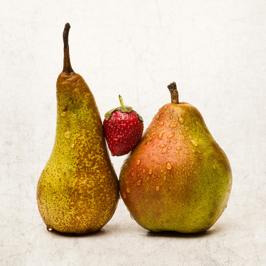 Pear Photograph - Two Lives One Heart - Square by Alexander Senin