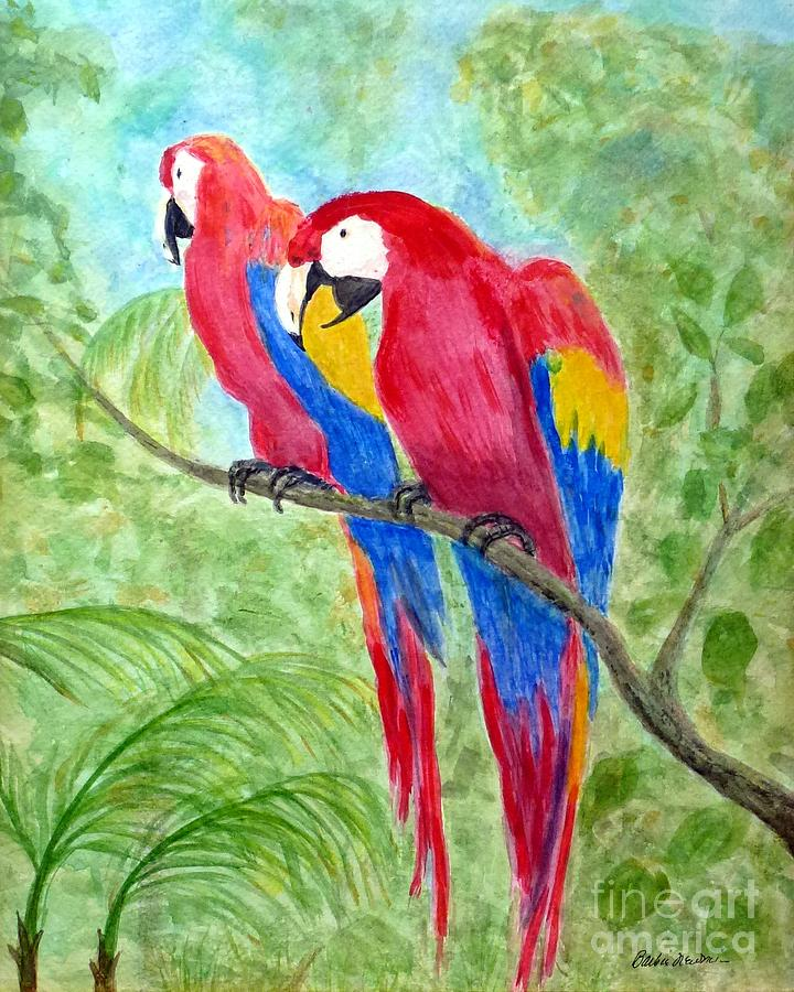 Two Macaws Painting