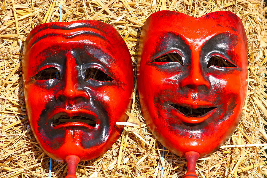 Mask Photograph - Two Masks by Borislav Marinic