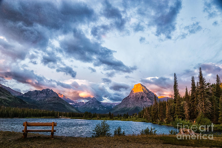 Two Medicine Lake Sunrise by Sophie Doell