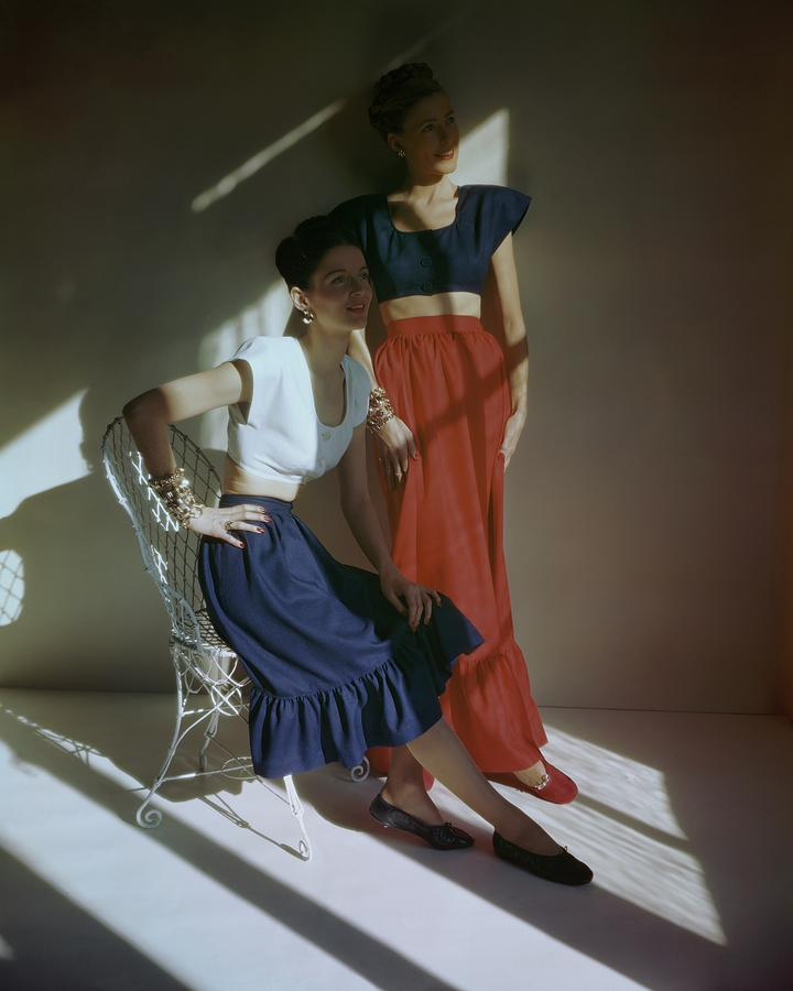 Two Models In Square Dance Outfits Photograph by Frances McLaughlin-Gill