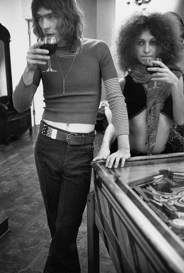 Two Models Wearing 1970s Style Clothing Photograph by Rene De Bauge-Cahan