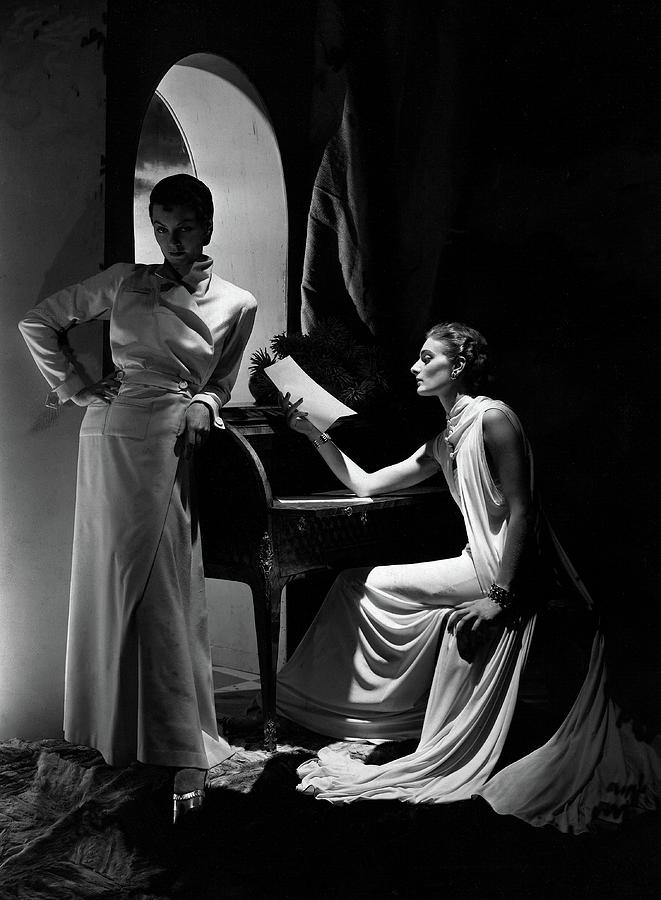 Two Models Wearing Clothing By Yrande And Maggy Photograph by Horst P. Horst