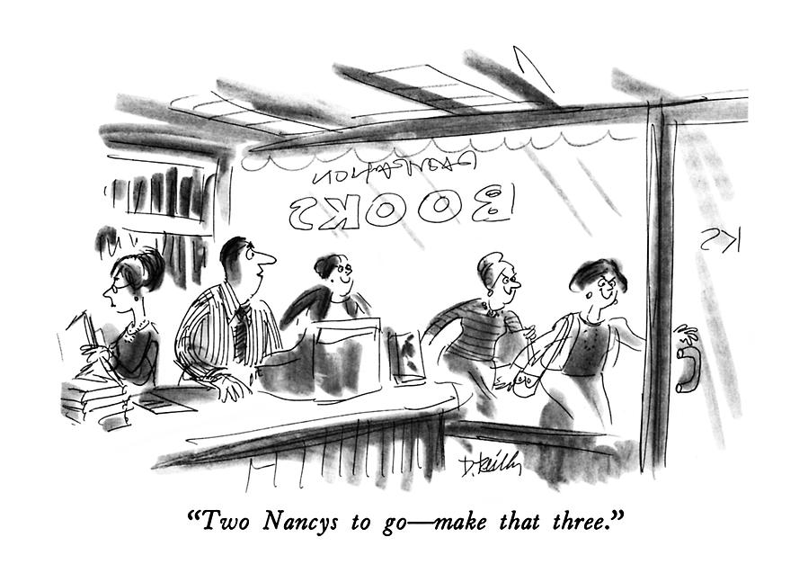 Two Nancys To Go - Make That Three Drawing by Donald Reilly