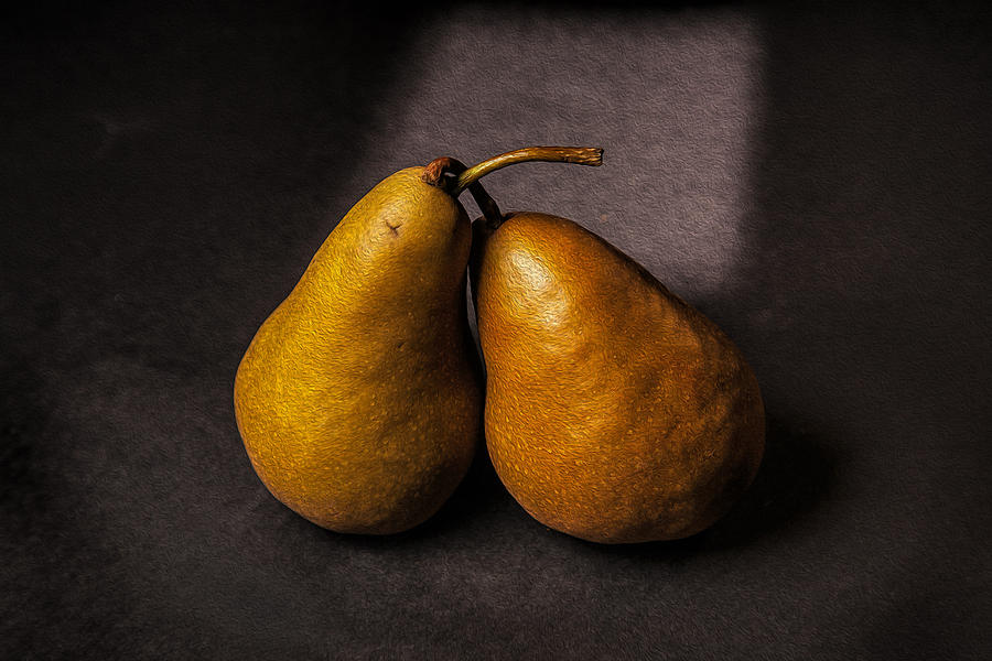 Dutch Masters Photograph - Two Pear by Peter Tellone