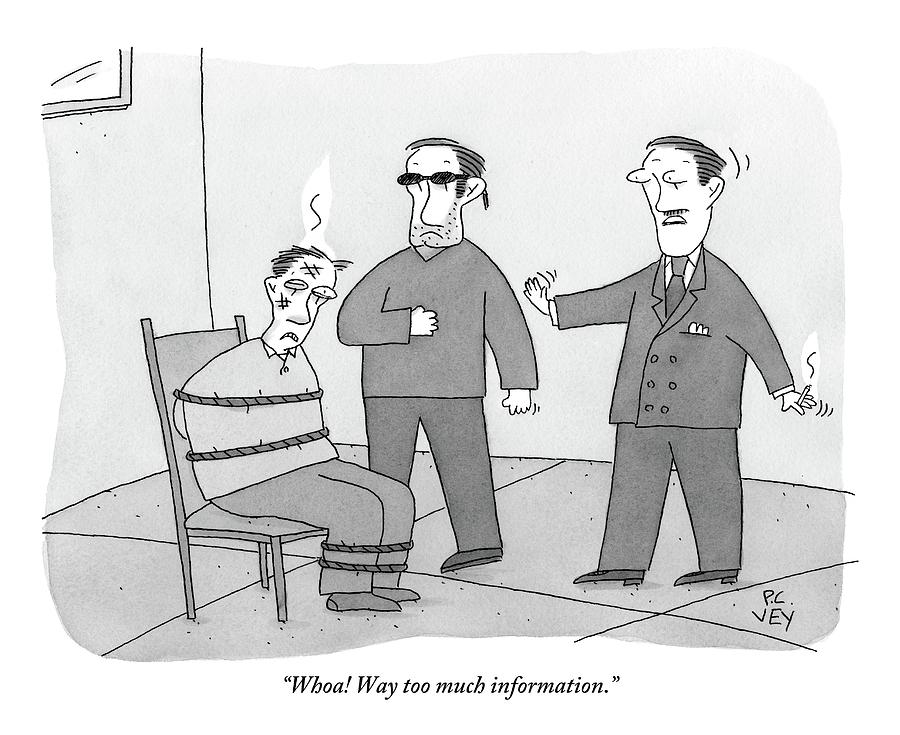 interrogation drawing two people interrogate a suspect by peter c vey