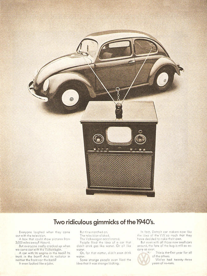 Vw Beetle Digital Art - Two Ridiculous Gimmicks Of The 1940s by Georgia Fowler