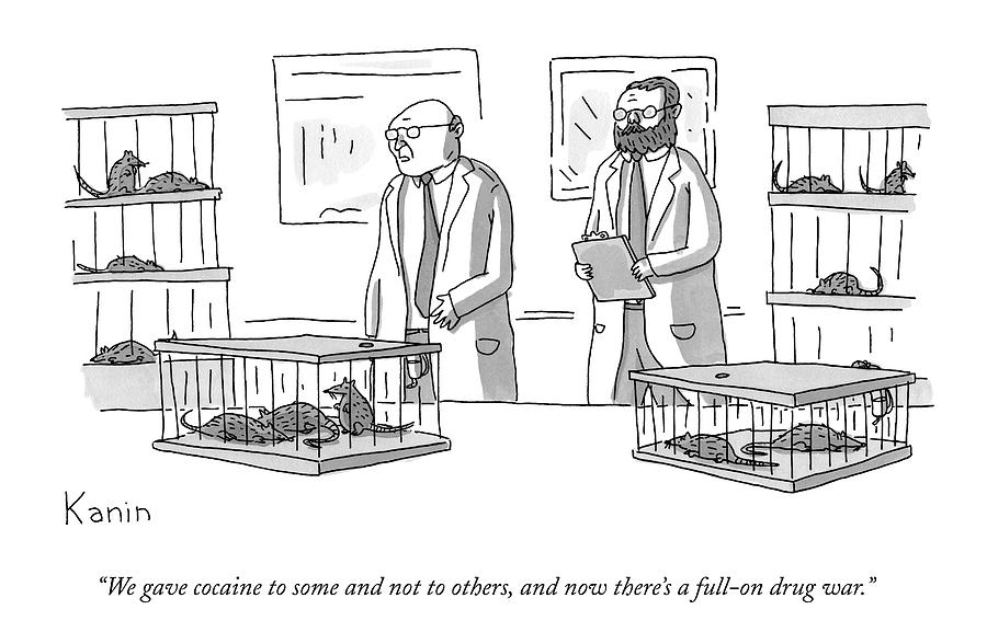 Two Scientists Converse In A Laboratory Full Drawing by Zachary Kanin