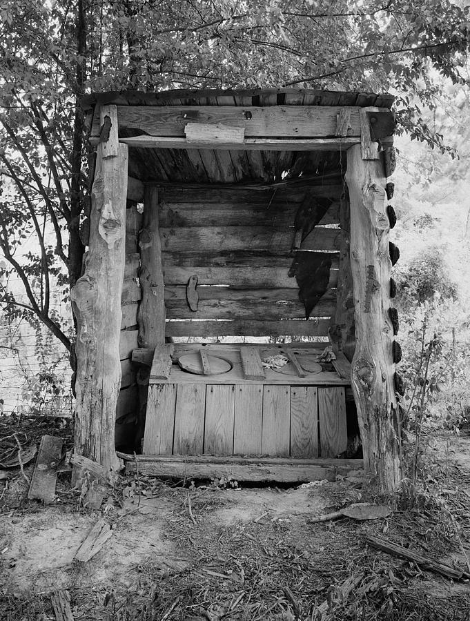 Outhouse Photograph - Two-seater Outhouse by Daniel Hagerman
