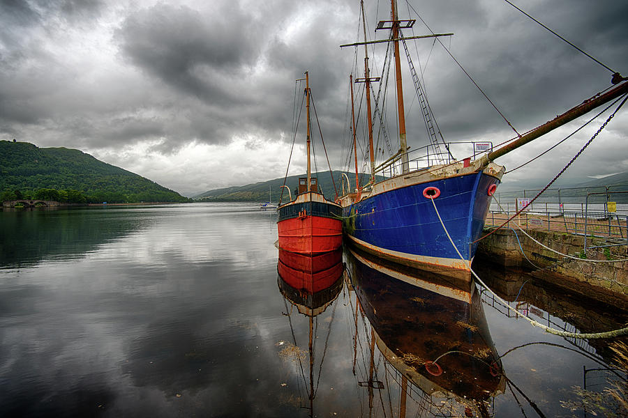 Two Ships At The Cost Of Loch Fyne Photograph by Emad Aljumah
