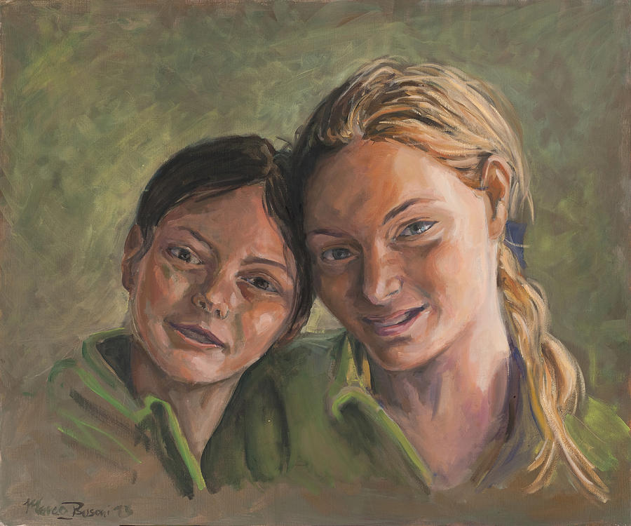 Portrait Painting - Two Sisters by Marco Busoni