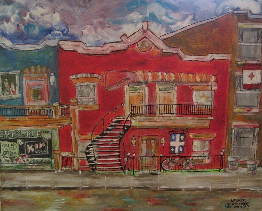 Quebec Painting - Two Solitudes by Michael Litvack