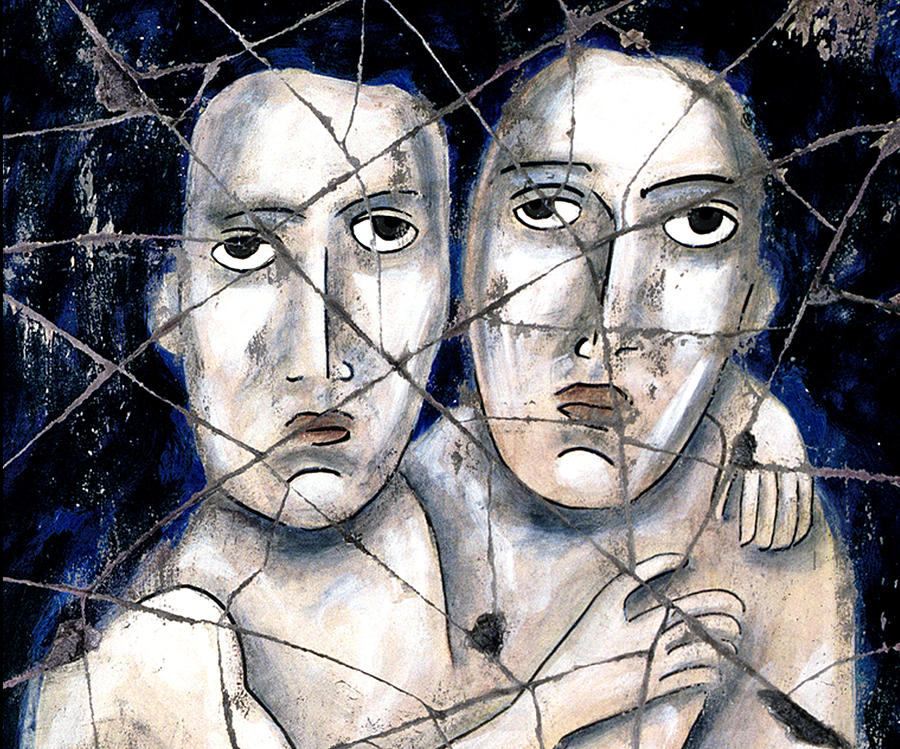 Couples Painting - Two Souls - Study No. 1 by Steve Bogdanoff