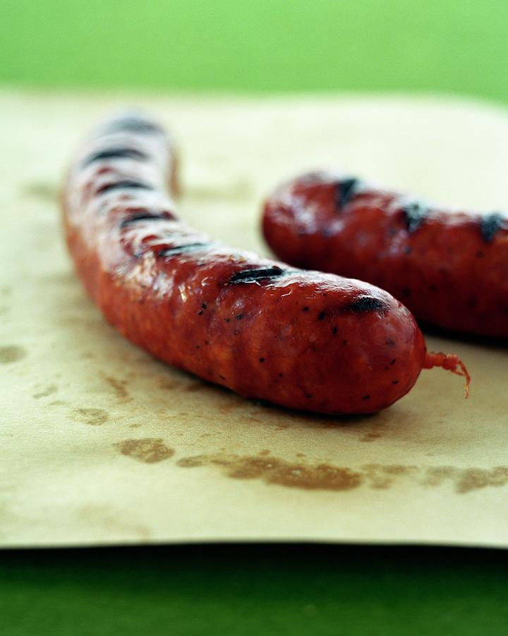 Two Spicy Sausages Photograph by Romulo Yanes
