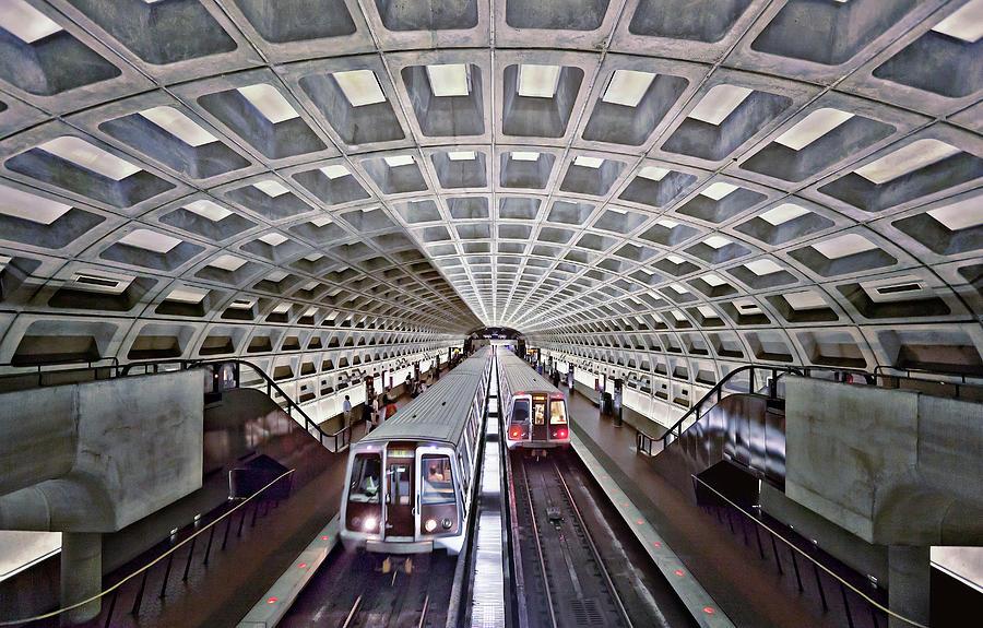 Two Subway Trains, Washington Metro Photograph by Caroline Purser