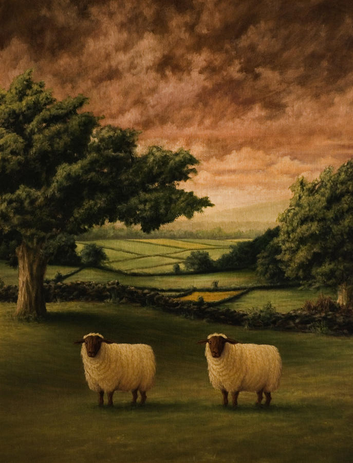 Suffolks Painting - Two Suffolks by Mark Zelmer