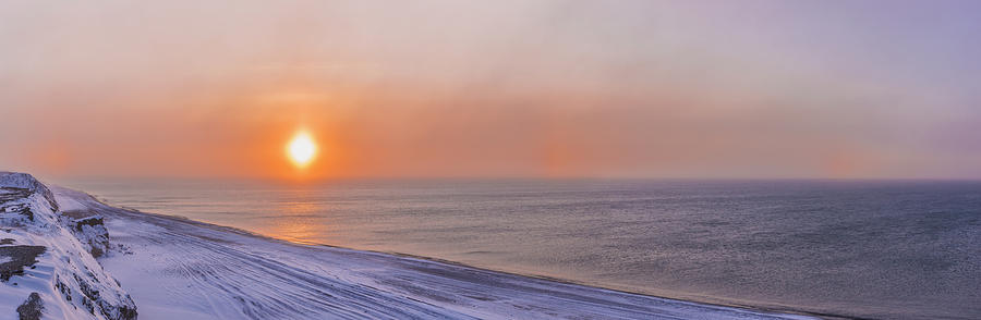 Arctic Photograph - Two Sundogs Hang In The Air Over The by Kevin Smith