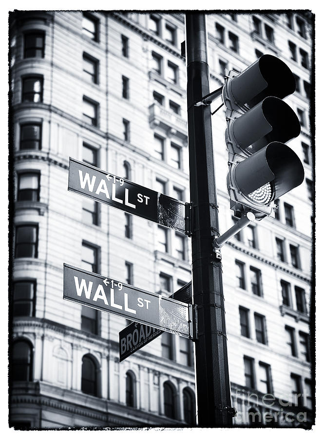 New York City Photograph - Two Times Wall St. by John Rizzuto