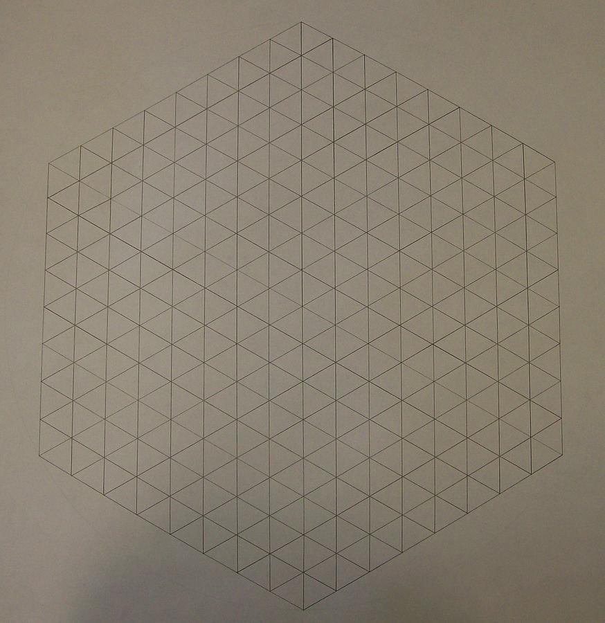 Math Drawing - Two To The Power Of Nine Or Eight Cubed by Jason Padgett