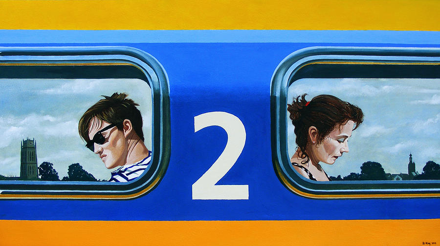 Train Painting - Two To Zaltbommel by Jo King