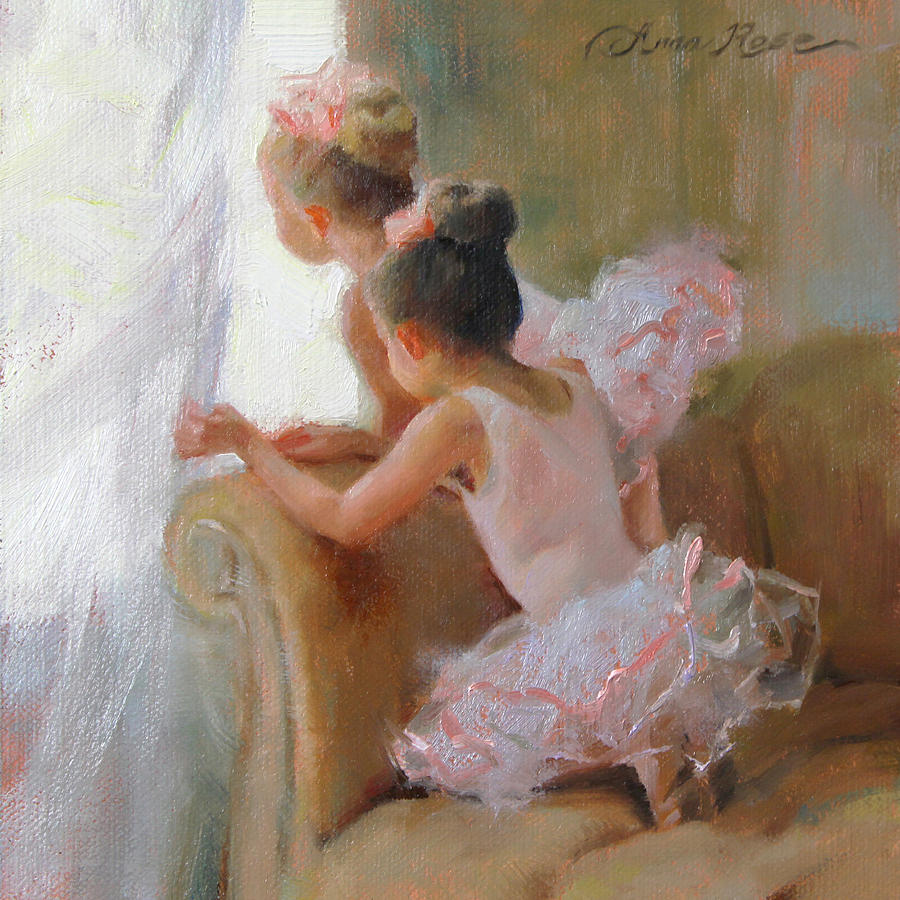 Dancers Painting - Two Tutus by Anna Rose Bain